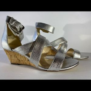 Nine West Piwow Metallic Wedge Sandal
